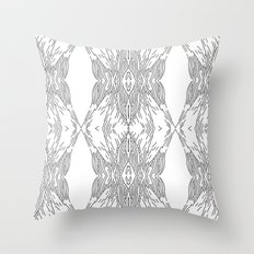 black line structure Throw Pillow