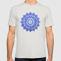 okshirahm, blue crystal Mens Fitted Tee Silver SMALL