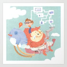 My Monstrous Privacy Art Print
