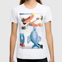 Surrealism Womens Fitted Tee Ash Grey SMALL
