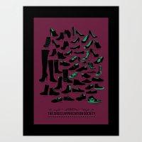 The Shoes Appreciaton Society Art Print
