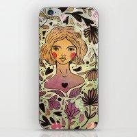 Bird Girl iPhone & iPod Skin