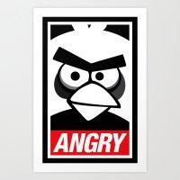Obey Angry Birds! (Mashup, Parody) Art Print