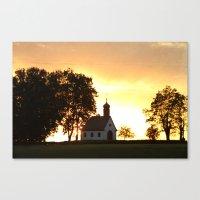 Sunset Church Canvas Print