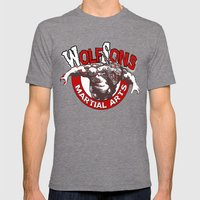 WolfSons2 Mens Fitted Tee Tri-Grey SMALL