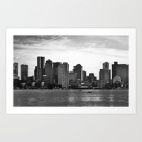 Boston, I love you. Art Print
