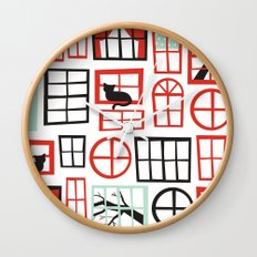 Doors and Windows Wall Clock