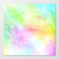 Colored Encaustic Patter… Canvas Print