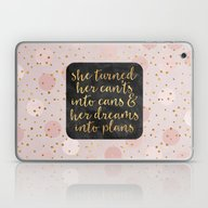 She Turned Her Can'ts In… Laptop & iPad Skin