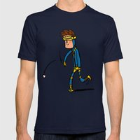 Cyclops Loves Baseball Mens Fitted Tee Navy SMALL