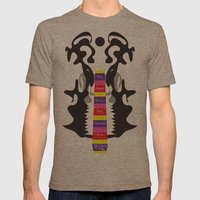 The elephant with the inscissors tusk.  Mens Fitted Tee Tri-Coffee SMALL