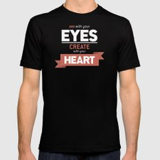 ...Create With Your Heart Black Mens Fitted Tee SMALL