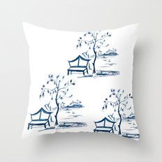 Chinoserie  Throw Pillow