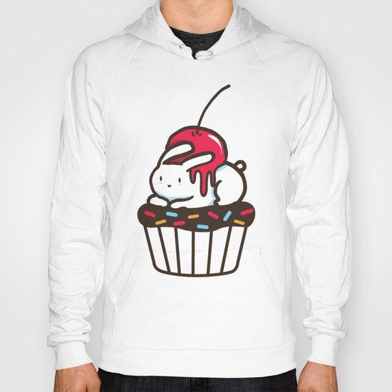 Chubby Bunny on a cupcake Hoody