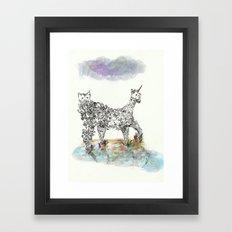 Catacorn Framed Art Print