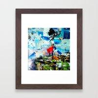 BAT VS. GOD Framed Art Print
