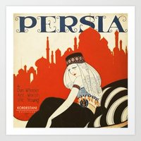 persia pillow Art Print