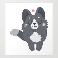 Happy Cat Art Print