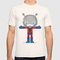 ANTMAN ROBOTIC Mens Fitted Tee Natural SMALL