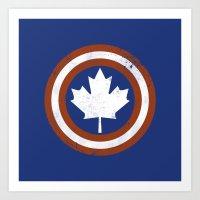 Captain Canada Art Print