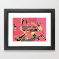 Outer Space Meanderings Framed Art Print