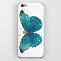 Blue Butterfly iPhone & iPod Skin