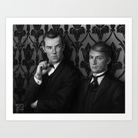 Holmes & Watson -- BBC M… Art Print