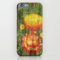 Flowers On Wood. iPhone 6 Slim Case