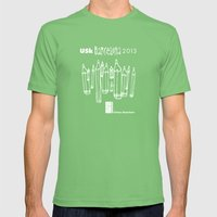Urban Sketchers USk BCN 2013 Mens Fitted Tee Grass SMALL