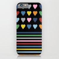 Heart Stripes Black iPhone 6 Slim Case