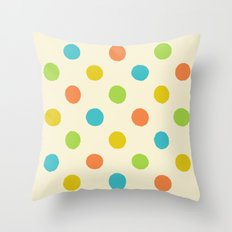 Colorful polka dot pattern Throw Pillow