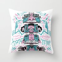 Toto-Tem Throw Pillow