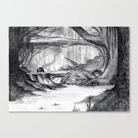 Dream view serie - Deep Forest Canvas Print