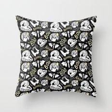 Classic Horror Halloween Throw Pillow