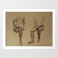 Sitting Sketches Art Print