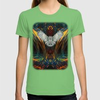 The Great Grey Owl Womens Fitted Tee Grass SMALL