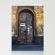 Old Sicilian Door Of Cat… Stationery Cards