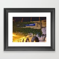 ? Station Framed Art Print