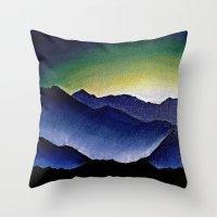 Mountain Landscape at Dusk Throw Pillow