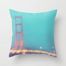 la nuit. San Francisco Golden Gate Bridge photograph Throw Pillow