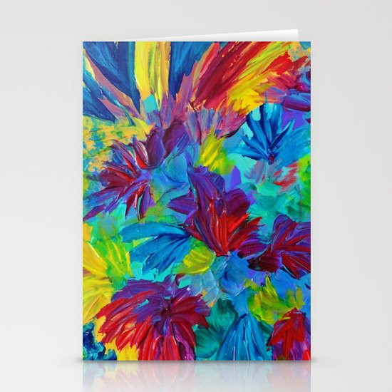 TUTTI FRUTTI - Fruit Punch Floral Bouquet Flowers Bright Bold Colorful Painting Romantic Rainbow Stationery Card