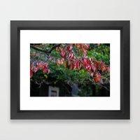 Sad Leaves Framed Art Print