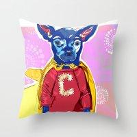 Cyrus The Superhero  Throw Pillow