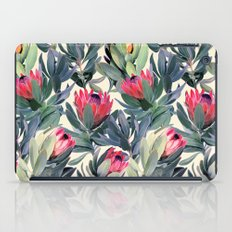 Painted Protea Pattern iPad Case