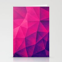Abstract Polygon Multi C… Stationery Cards