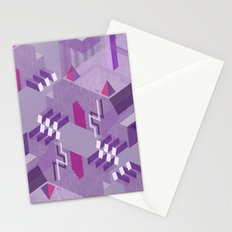 Den of the Headless Lion in Purple and Lavender Stationery Cards