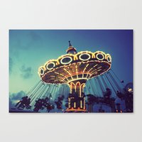 Blue Hour At The Carniva… Canvas Print