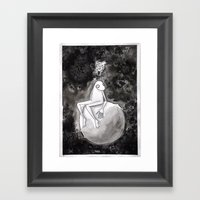 Omino Luna Be Alone Framed Art Print
