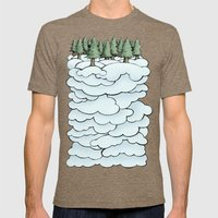Treeclouds Mens Fitted Tee Tri-Coffee SMALL