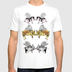 Pigs on the wing Mens Fitted Tee White SMALL